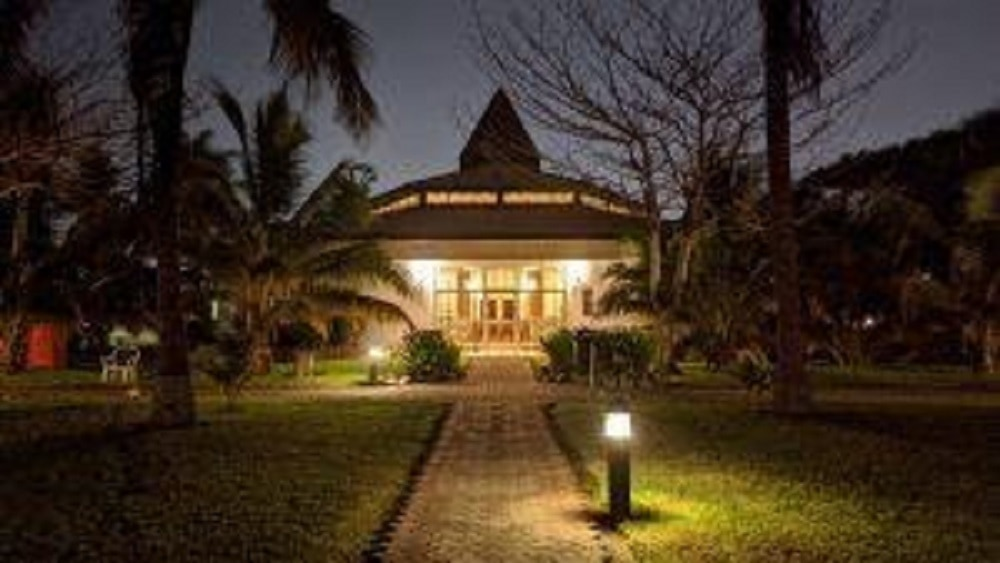 Landscape lighting and a beautiful house