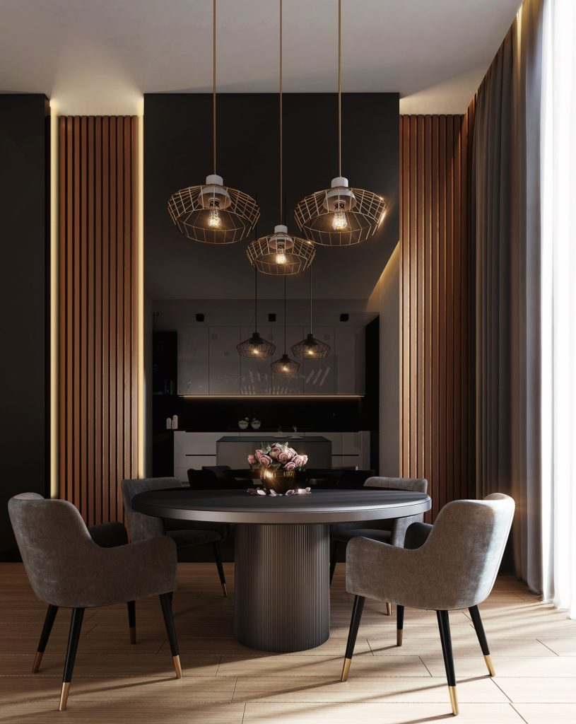 an elegant and stylish dining room