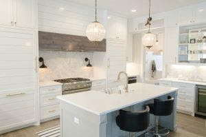 a bright white kitchen with lots of light