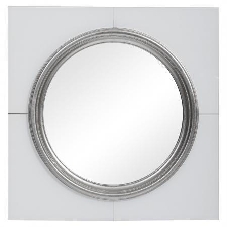 U-09681_Gouveia White Square Mirror