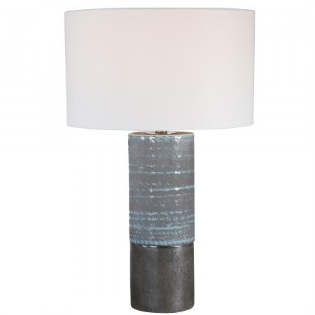 Prova Gray Textured Table Lamp_U-28372