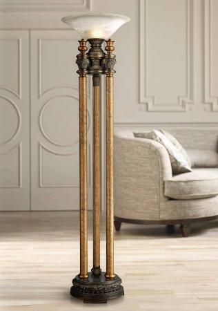 Athena Metal Torchiere Floor Lamp by Dimond 1