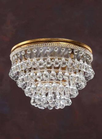 venetian glass ceiling light gold 7976