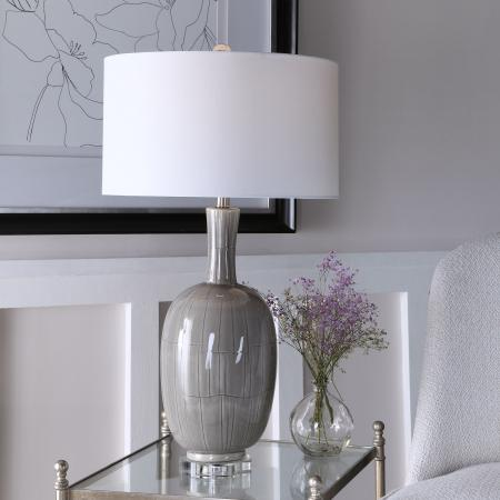 LeAnna Gray Crackle Table Lamp_U-28279