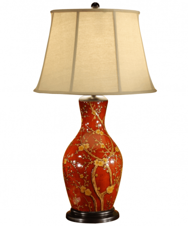 Blossom-on-Red-Porcelain-Lamp-by-Wildwood-Lamps-–-33″