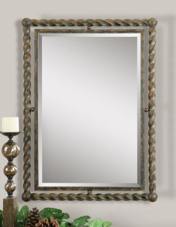 Garrick Wrought Iron Mirror_U-01106