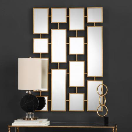 Kennon Forged Gold Rectangles Mirror_U-09271