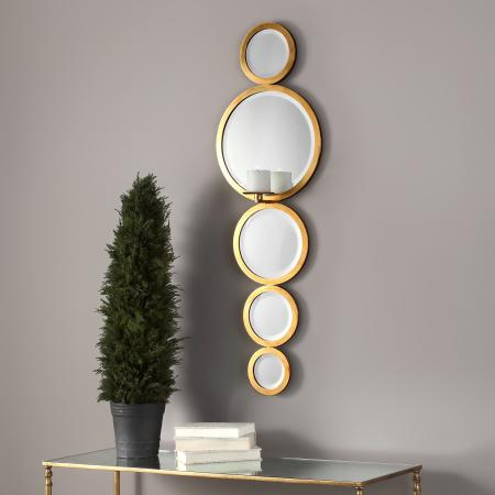 Hailey Mirrored Candle Wall Sconce_U-18935